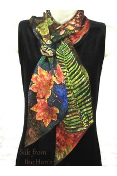 "Autumn Leaf Print 5"" x 72"" Scarf"