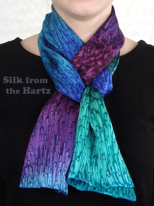b6d6fc0a4eb Creative silk scarf fashion friendship gift idea for women