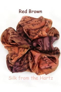 Earth Tone Brown Silk Scrunchies