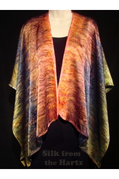 Autumn Brown Silk Wrap