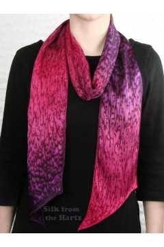 Long Narrow Red Purple Scarf