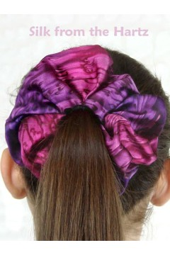 Purple Silk Hair Scrunchies