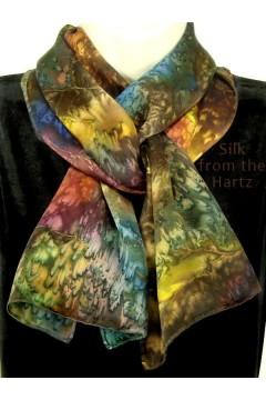 Stone Design Silk Scarf