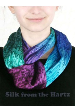 Jewel tone silk infinity or circle scarf makes an elegant gift for women she will enjoy