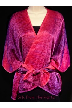 Red Purple Silk Wrap