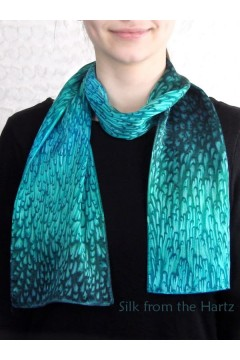 "Green 8"" x 54"" Silk Scarf"