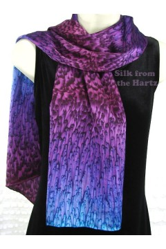 "11"" x 60"" Silk Scarves, 8 Colors"