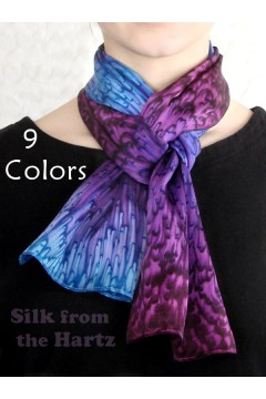 "8"" x 54"" Silk Scarves, 9 Colors"