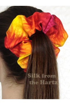 Yellow-Red, Yellow-Blue Scrunchies