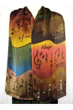 "Music Note Scarf 11"" x 60"""