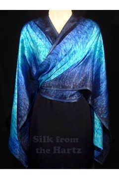 Navy Blue Silk Wrap