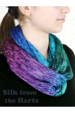 Jewel Tone Silk Infinity Scarf