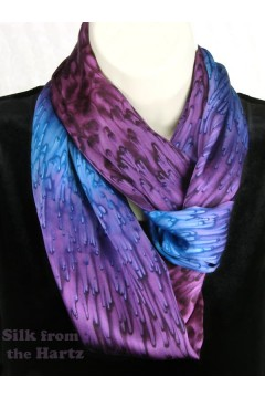 Purple Silk Infinity Scarf