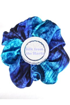 Blue & Jewel Tone Silk Scrunchies