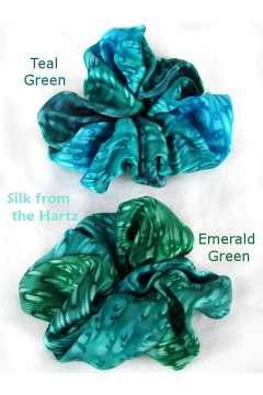 Teal & Emerald Green Scrunchies