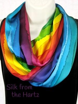 Rainbow Stripe Infinity Scarf