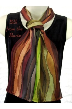 "Striped 8"" x 54"" Silk Scarves"