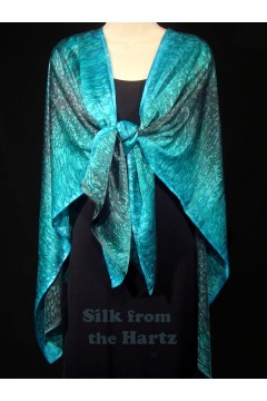 Teal Green Silk Wrap