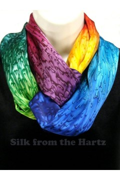 Silk Infinity Scarves, 7 Colors