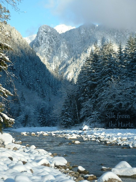 North Fork Skykomish River in Winter
