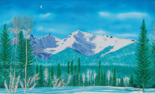 silk mountain painting